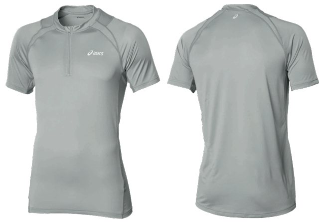 Мужская футболка в Петербурге Asics Hermes SS 1/ 2 Zip Top Men's